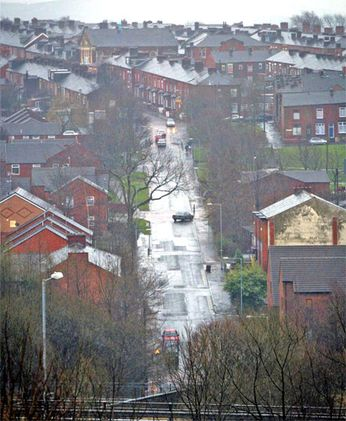 The Glodwick area of Oldham, scene of the 2001 riots