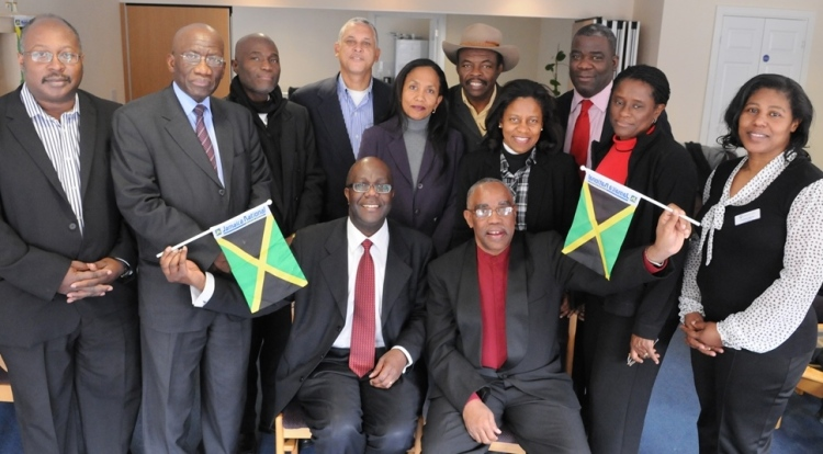 jamaican community leaders visit to charles pearson court west bromwich